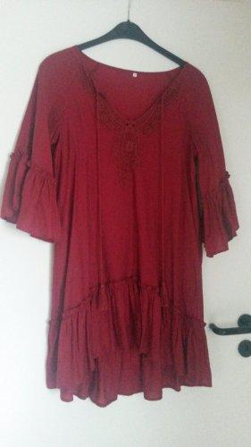 BLOGGER !! romantische coole Bluse Tunika Kleid Kleidchen Oberteil - Italienische Mode