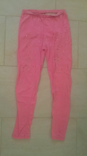 Legging roze-roze Katoen