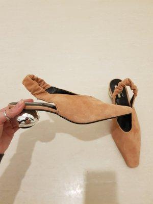 blogger sling back Schuhe aus wildleder