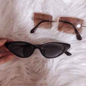 NoName Angular Shaped Sunglasses black-brown