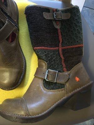 Halfhoge laarzen veelkleurig Leer