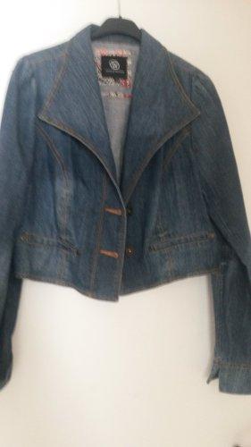 BLOGGER !!  super süße Jeans Jeansjacke kurze Jacke Gr. 42 - WORLD OF WISSMACH