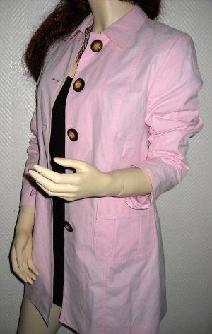Blogger Taifun Kurzmantel Longjacke Mantel Jacke modern Coat rosa 34 36 XS S Top
