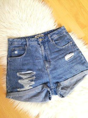 Tally Weijl Hot pants blu acciaio-blu fiordaliso