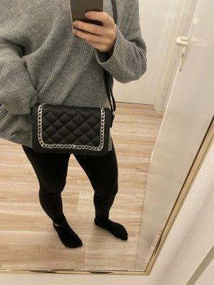 Bohoo Crossbody bag black-silver-colored