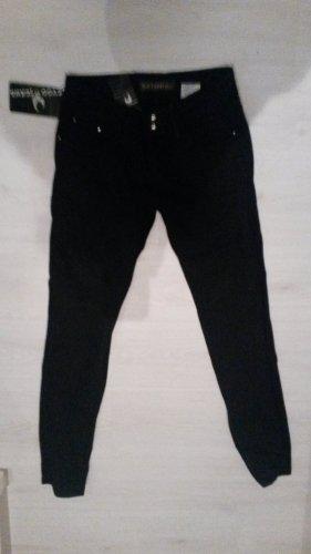 Pantalón boyfriend negro Algodón