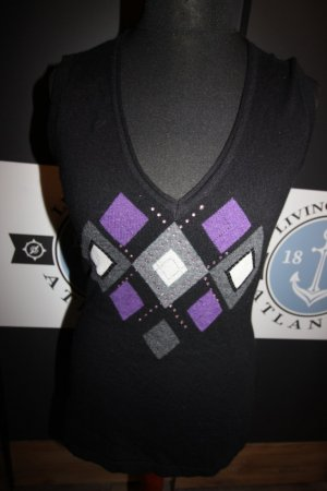 Sweter bez rękawów z cienkiej dzianiny Wielokolorowy
