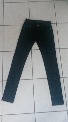 BLOGGER weich black denim schwarz Hose Boyfriendhosen Slim Skinny Jeans - Gr 36