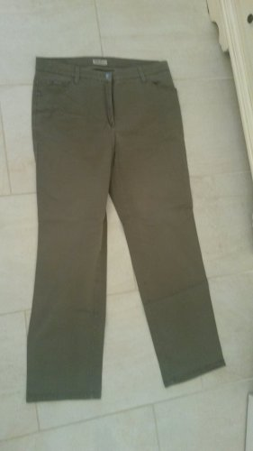 Brax Spodnie typu boyfriend zielono-szary-khaki Bawełna