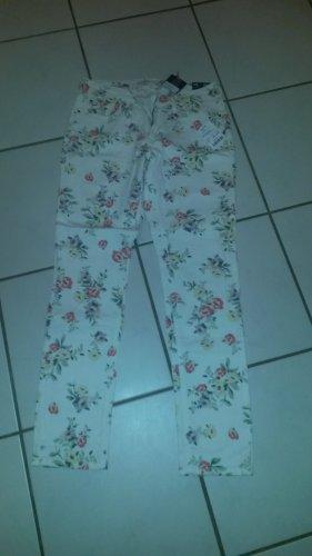 BLOGGER !! weiche Slim Skinny Boyfriend Strech Boho Blumen floral Jeans Hose Shape Pants Tessa - Gr. 38 ev 40