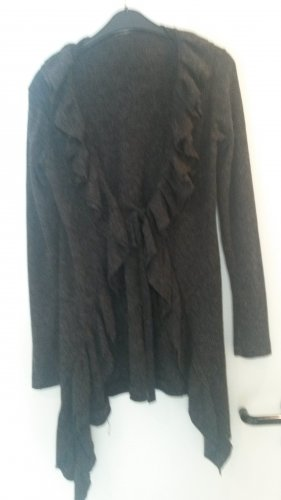 Knitted Coat anthracite-taupe