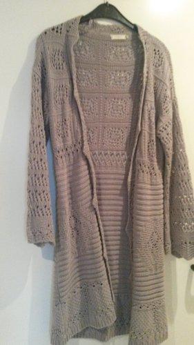 Cream Manteau en tricot gris clair coton