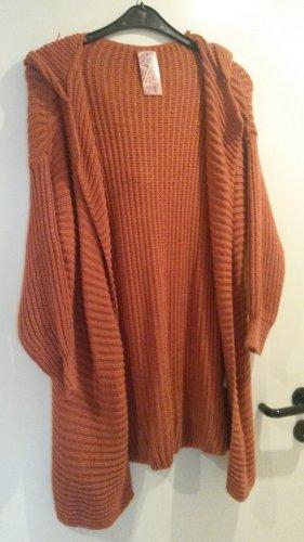 New Style Manteau en tricot orange foncé-orange