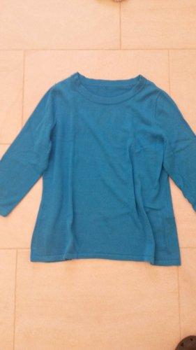 Peter Hahn Camisa tejida turquesa-azul claro Algodón