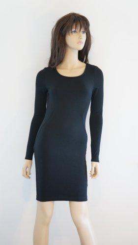 H&M Vestido elástico negro Poliéster