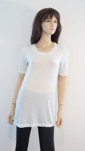 H&M Camicia lunga bianco Viscosa