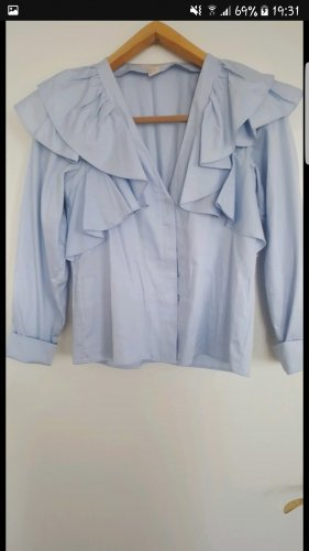 H&M Marynarka koszulowa jasnoniebieski-błękitny