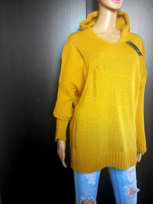 0039 Italy Pull oversize doré-brun sable