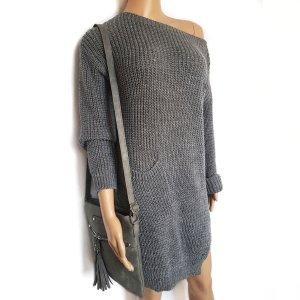 #Bloggerstyle #Pullover Long / Pulloverkleid mit Taschen vorne Einhgrösse SALE%