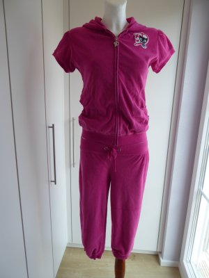 Pussy Deluxe Leisure suit magenta cotton