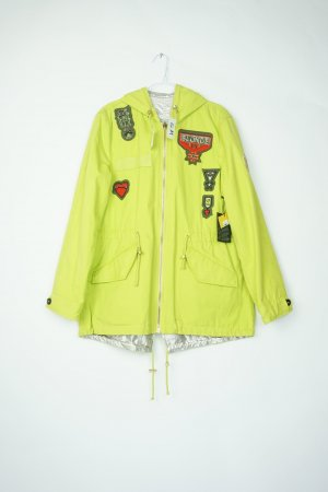 Blonde No. 8 Reversible Jacket lime yellow-silver-colored