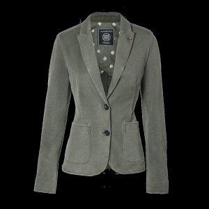 BLONDE No.8 lässige Basic Stretch Jacke Blazer einreihig olive khaki Gr 44