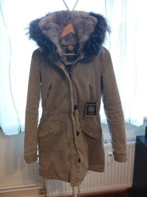 Blonde No. 8 Manteau à capuche ocre-chameau coton