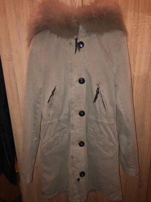 Blonde No. 8 Abrigo de piel color plata Piel