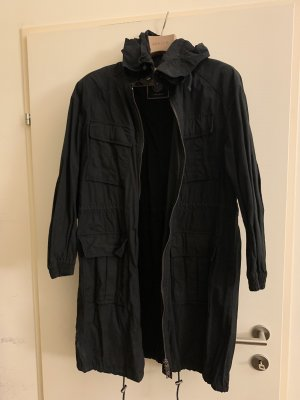 Blonde no 8 Parka in schwarz aus Baumwolle, Größe Medium/large. Kaum getragen, daher neuwertig