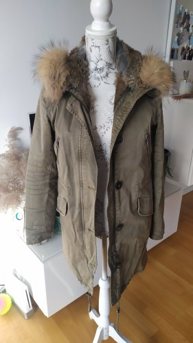 Blonde No 8 Parka mit echtem Fell Gr. 38