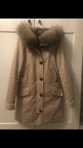Blonde No. 8 Abrigo de piel rosa empolvado