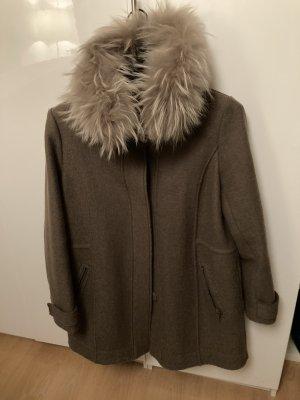 Blonde No. 8 Parka gris brun-taupe laine