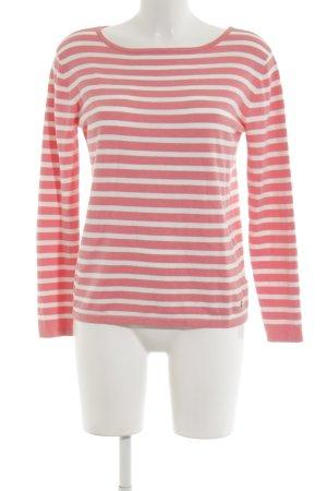 Blonde No. 8 Strickpullover weiß-pink Streifenmuster Casual-Look