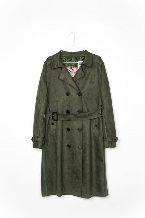 Blonde No. 8 Trenchcoat LYON Veloursoptik Neu mit Etikett  Gr. L/40 oliv khaki
