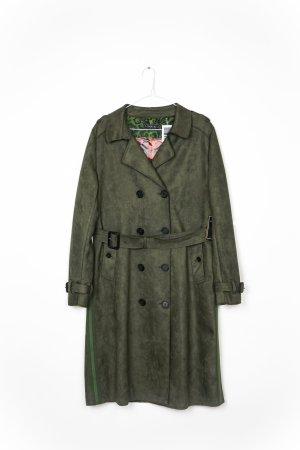 Blonde No. 8 Trenchcoat LYON Veloursoptik Neu mit Etikett  Gr. M/38 oliv khaki