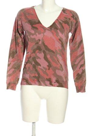 Blonde No. 8 V-Ausschnitt-Pullover Camouflagemuster Casual-Look