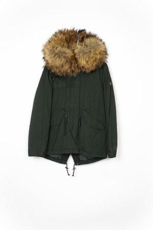 Blonde No. 8 Manteau de fourrure vert olive