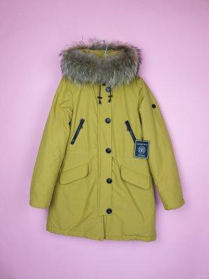 Blonde No. 8 Wintermantel POLAR 515 Parka Echtfell Neu Gr. S/ 36 gelb