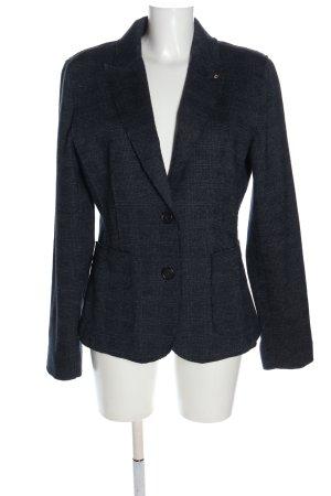 Blonde No. 8 Blazer in lana blu stampa integrale stile professionale