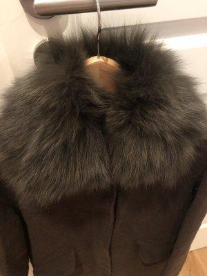 Blonde No. 8 Chaqueta de lana caqui-marrón