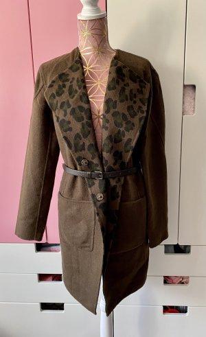 Blonde No. 8 Wollmantel Wendemantel braun camouflage Größe S