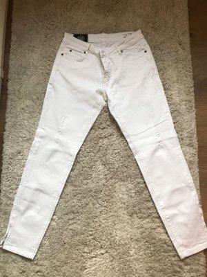 Blonde No. 8 Straight Leg Jeans white