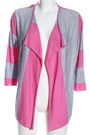 Bloom Cardigan lichtgrijs-roze gestippeld casual uitstraling