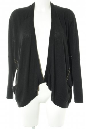 Bloom Cardigan schwarz-goldfarben Business-Look