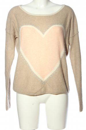 Bloom Pullover in cashmere Stampa a tema stile casual