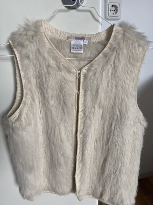 Bloom Gilet en fourrure beige clair