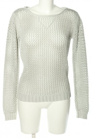 Bloom Grobstrickpullover hellgrau Casual-Look