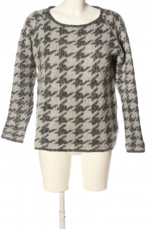 Bloom Crochet Sweater natural white-light grey allover print casual look