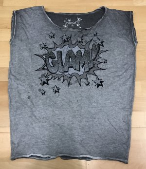 Bloom oversized T-Shirt mit Glitzersteinen Glam Gr.M