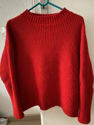 Bloom Sweter z dzianiny czerwony